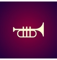 Trumpet icon Flat vector image vector image