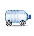 water delivery big plastic bottle potable vector image vector image