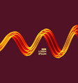 wavy background with motion effect 3d technology vector image