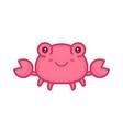 cute happy smiling sea crab vector image