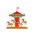 horse carousel amusement park objects vector image