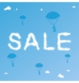 Sale Cloudy Background vector image