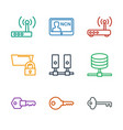 9 access icons vector image vector image