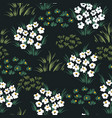 abstract floral seamless pattern with chamomile vector image vector image