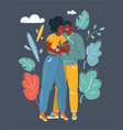 african american couple with baby vector image vector image
