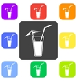 alcohol drink icon Cold vector image vector image