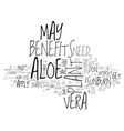 aloe vera and other beneficial houseplants text vector image vector image