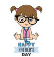 baby girl disguised as dad vector image vector image