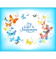 Background with beautiful butterflies vector image