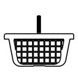 basket for shopping black color icon vector image vector image
