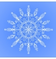Beautiful snowflake vector image vector image