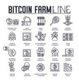 bitcoin outline icons collection set moder vector image vector image