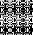 Black and white horizontal bolts vector image vector image
