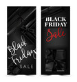 black friday sale advertisement with dark gift vector image