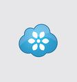 Blue cloud flower icon vector image