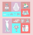 bridal accessories set banners vector image vector image
