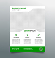 Business flyer template - simple green design vector image vector image