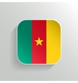 Button - Cameroon Flag Icon vector image
