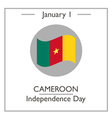 Cameroon Independence Day vector image vector image