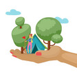 camping adventure time vector image