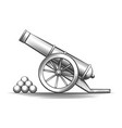 cannon weapon firing vector image vector image