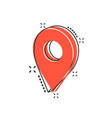 cartoon map pointer icon in comic style gps vector image vector image