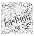 chicago fashion schools Word Cloud Concept vector image vector image