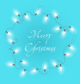 christmas background with bright realistic vector image vector image