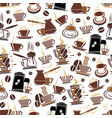 coffee cup and makers seamless pattern vector image