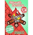 Color vintage Camping poster vector image