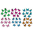 colorful butterflies set vector image vector image