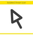 computer mouse arrow linear icon vector image