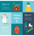 concept of christmas and winter holidays vector image vector image