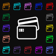 Credit card icon sign Lots of colorful symbols for vector image vector image