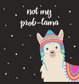 cute winter llama vector image vector image