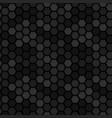 dark metal hexagon 3d pattern vector image vector image