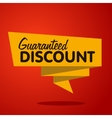 discount label origami style vector image vector image