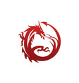 dragon logo template vector image