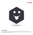 emoji icon hexa white background icon template vector image