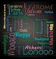 european capital cities eps10 vector image vector image