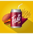 Fast food poster design isolated vector image vector image