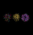 firework bursting shapes vector image vector image