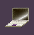 flat shading style icon laptop notebook vector image