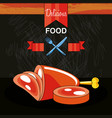 fresh and delicious meat leg vector image vector image