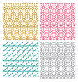geometric seamless pattern in hexagon concept vector image