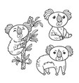 hand drawing koala in cartoon style animal vector image vector image