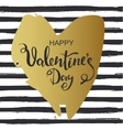 Hand drawn heart on striped background Valentines vector image vector image