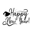 happy new year card and calligraphy merry vector image vector image