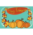 happy thanksgiving autumn pumpkin greeting vector image vector image