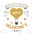 happy valentines day all you need is love stamp vector image